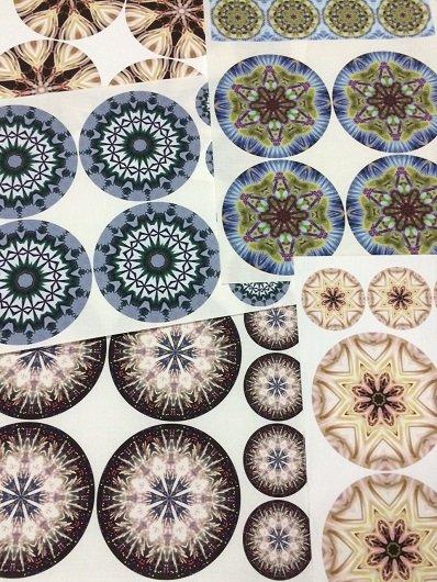 Kaleidoscope coasters