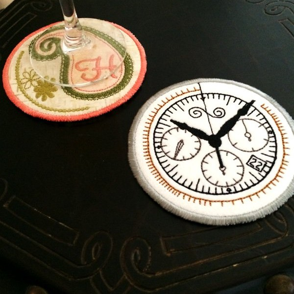 Round Coasters in Hoop