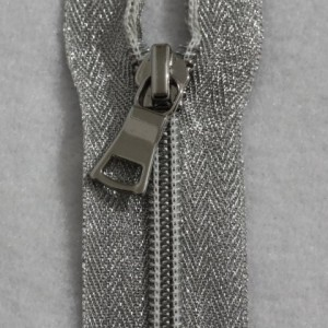 Silver Coil with Silver Tape Zipper