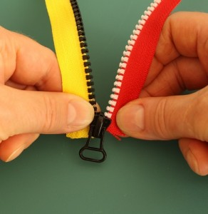 Repairing a zipper 2