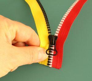 Repairing a zipper 4
