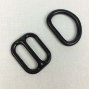Black metal D-ring and slide