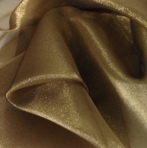Gold Iridescent Organza