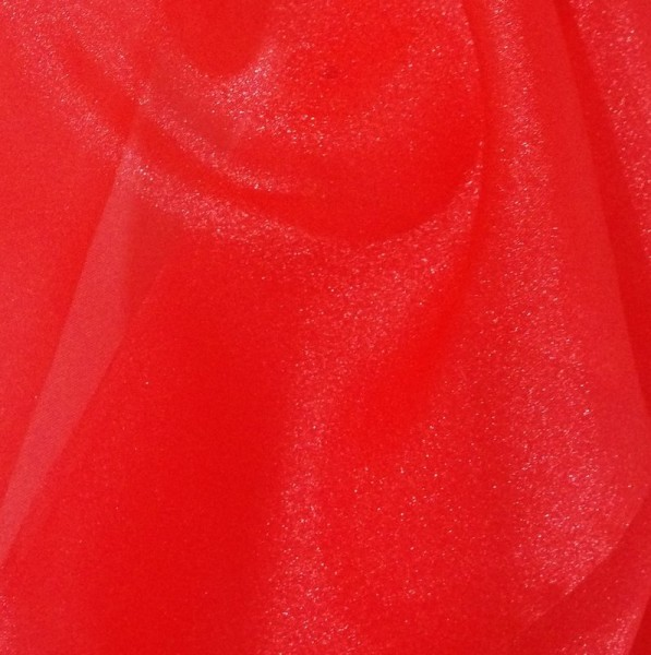Red Sparkle Organza