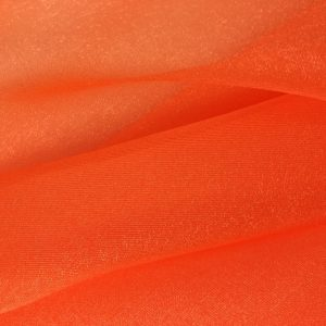 Orange Sparkle Organza