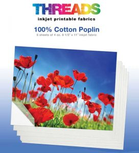 Threads cotton inkjet printable fabrics